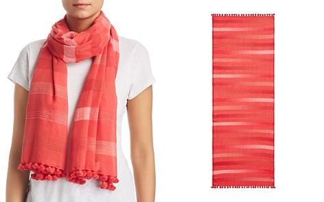 Eileen Fisher Striped Mini-Tassel Scarf - Bloomingdale's_2