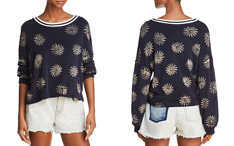 Splendid x Margherita Daisy Print Terry Sweatshirt - Bloomingdale's_2