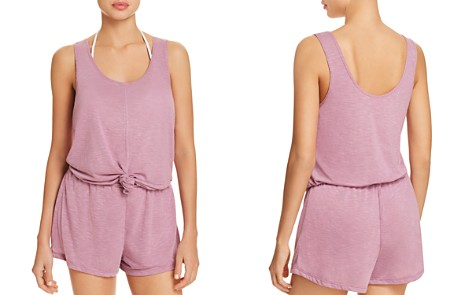 BECCA® by Rebecca Virtue Breezy Basics Knot Romper Swim Cover-Up - Bloomingdale's_2