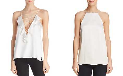 CAMI NYC Charlie Ruffled Silk V-Back Top - Bloomingdale's_2