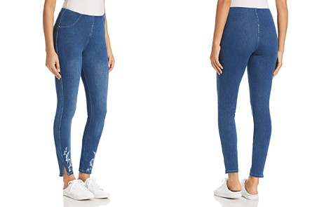 Lyssé Cooper Embroidered Denim Leggings - Bloomingdale's_2