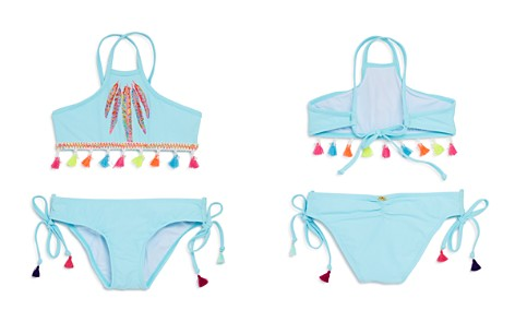 PilyQ Girls' Feather 2-Piece Swimsuit with Tassel Trim - Little Kid, Big Kid - Bloomingdale's_2