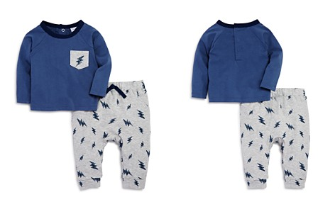 Bloomie's Boys' Lightning-Print Shirt & Jogger Pants Set, Baby - 100% Exclusive - Bloomingdale's_2