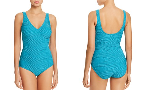Gottex Essence Crossover V-Neck One Piece Swimsuit - Bloomingdale's_2