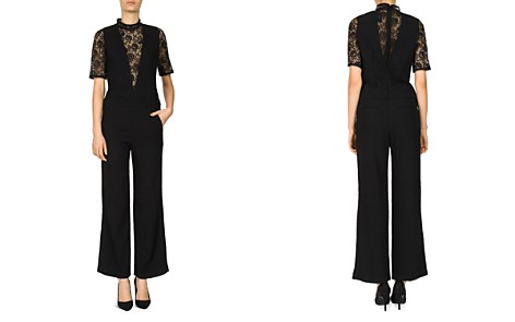 The Kooples Daisy Lace-Inset Crepe Jumpsuit - Bloomingdale's_2