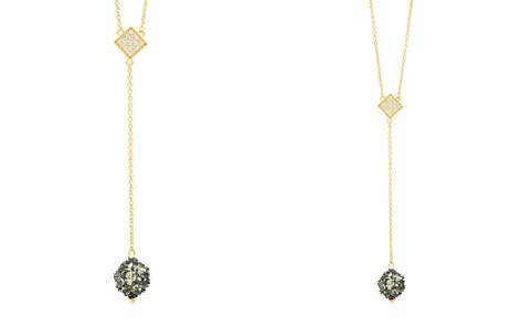 "Freida Rothman Rose d'Or Pavé Cluster Necklace, 16"" - Bloomingdale's_2"