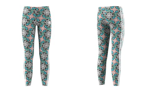Adidas Girls' Floral Animal-Print Leggings - Big Kid - Bloomingdale's_2
