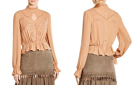 Haute Hippie Della Rose Embroidered Eyelet Blouse - Bloomingdale's_2