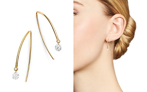 AeroDiamonds 18K Gold Solo Diamond Threader Earrings - Bloomingdale's_2