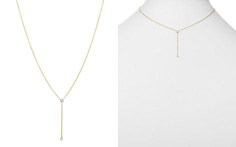 "AeroDiamonds 18K Yellow Gold Duet Diamond Y Necklace, 16"" - Bloomingdale's_2"