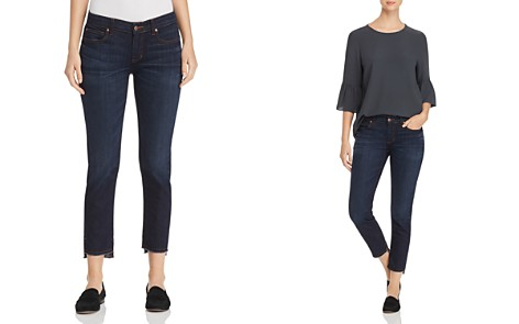 Eileen Fisher Petites Slim Ankle Step-Hem Jeans in Utility Blue - 100% Exclusive - Bloomingdale's_2