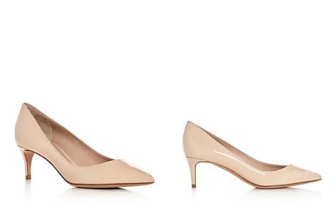 Giorgio Armani Women's Decollette Patent Leather Kitten Heel Pumps - Bloomingdale's_2