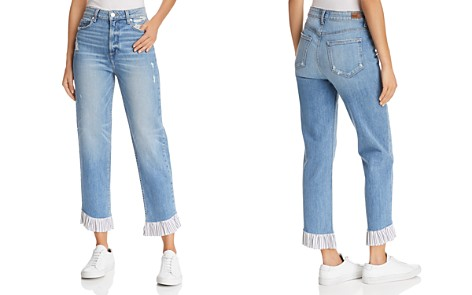 PAIGE Sarah High Rise Straight Jeans in Belfast - Bloomingdale's_2