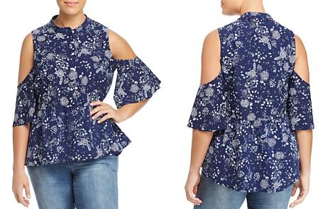 Lyssé Plus Selma Floral Cold-Shoulder Top - Bloomingdale's_2