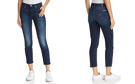 7 For All Mankind Kimmie Crop Skinny Jeans in Phoenix River - 100% Exclusive - Bloomingdale's_2