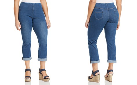 Lyssé Plus Pull-On Boyfriend Jeans in Mid Wash - Bloomingdale's_2