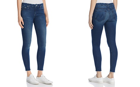 MOTHER Looker Ankle Fray Skinny Jeans in Fast Times - Bloomingdale's_2