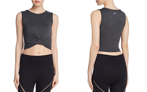 Alo Yoga Cover Twist-Front Cropped Tank - Bloomingdale's_2