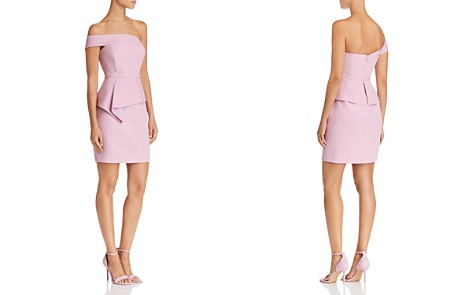 BCBGMAXAZRIA Off-the-Shoulder Peplum Dress - Bloomingdale's_2