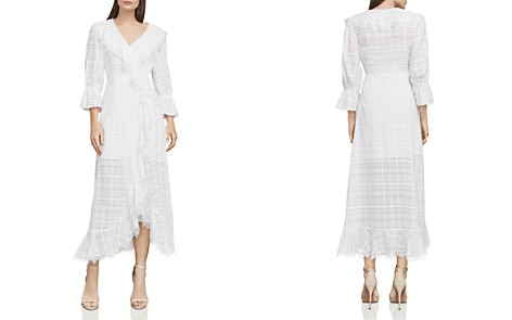 BCBGMAXAZRIA Cheryl Plaid Midi Wrap Dress - Bloomingdale's_2