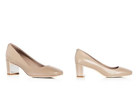 Donald Pliner Women's Corin High Block Heel Leather Pumps - Bloomingdale's_2