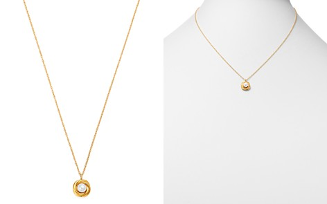 """Bloomingdale's Cultured Freshwater Pearl Knot Pendant Necklace in 14K Yellow Gold, 18"""" - 100% Exclusive_2"""