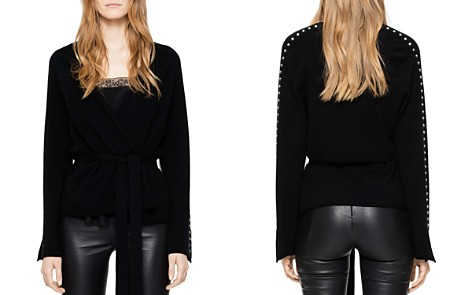 Zadig & Voltaire Lemmy Studded Merino Wool & Cashmere Wrap Cardigan - Bloomingdale's_2