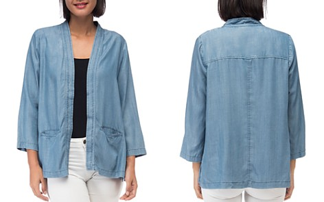 B Collection by Bobeau Hilary Chambray Open Jacket - Bloomingdale's_2
