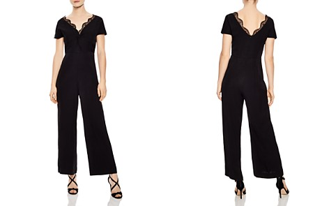 Sandro Edouarde Lace-Trimmed Jumpsuit - Bloomingdale's_2