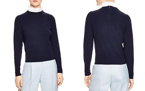 Sandro Salvator Ruffled Collar Sweater - Bloomingdale's_2