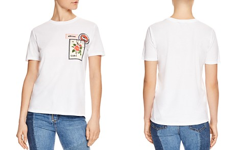 Sandro Taylor Cuba-Stamp Graphic Tee - Bloomingdale's_2