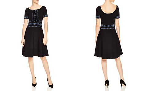 Sandro Safe Scalloped Beaded A-Line Dress - Bloomingdale's_2