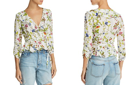 MILLY Ruffled Floral-Silk Wrap Top - Bloomingdale's_2