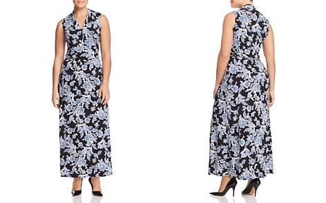 VINCE CAMUTO Plus Woodblock-Print Maxi Dress - Bloomingdale's_2