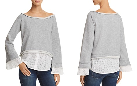 AQUA Layered-Look Eyelet Detail Sweatshirt - 100% Exclusive - Bloomingdale's_2
