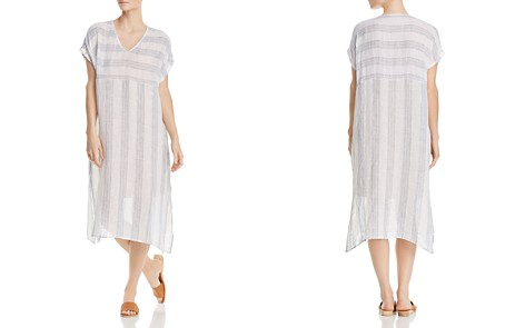 Eileen Fisher Petites Striped Linen Caftan Dress - Bloomingdale's_2
