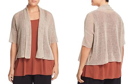 Eileen Fisher Plus Organic Linen Cropped Cardigan - Bloomingdale's_2