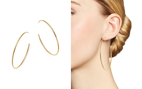 Moon & Meadow 14K Yellow Gold Three-Quarter Diamond-Cut Hoop Earrings - Bloomingdale's_2