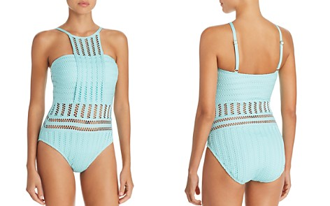 Kenneth Cole Perforated Bandeau One Piece Swimsuit - Bloomingdale's_2