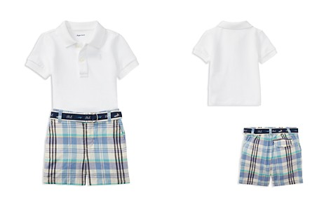Ralph Lauren Boys' Basic Mesh Polo, Madras Shorts & Belt Set - Baby - Bloomingdale's_2