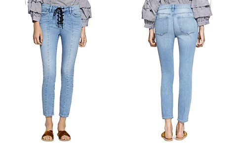 Sanctuary Robbie Lace-Up Cropped Jeans in Evelyn - Bloomingdale's_2