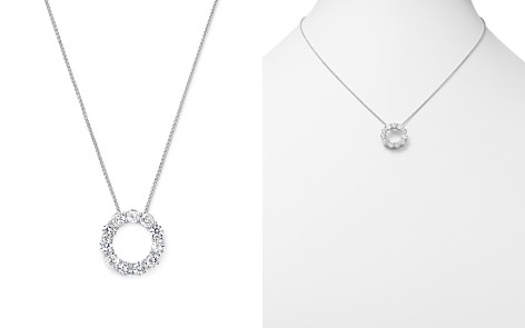 Diamond Circle Pendant Necklace in 14K White Gold, 2.0 ct. t.w. - 100% Exclusive - Bloomingdale's_2