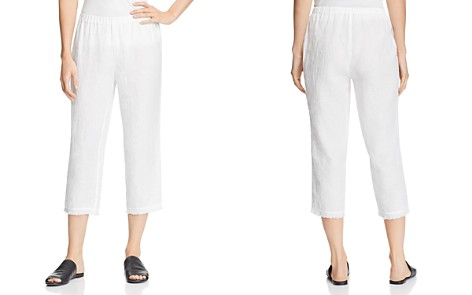 Eileen Fisher Cropped Organic Linen Pants - Bloomingdale's_2