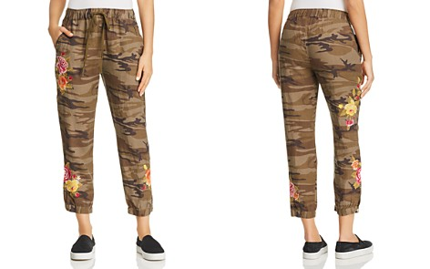 Johnny Was Vella Camo-Print Cropped Linen Pants - Bloomingdale's_2