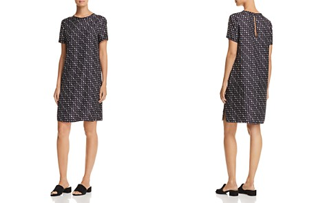 Theory Printed Silk Tee Dress - Bloomingdale's_2