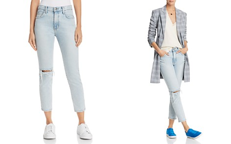 Current/Elliott The Vintage Cropped Straight-Leg Jeans in Century Destroy - Bloomingdale's_2