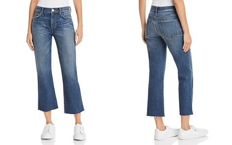 Current/Elliott The Kick Flare Raw-Edge Jeans in Sutfin - Bloomingdale's_2