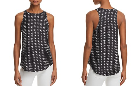 Theory Printed Silk Tank - Bloomingdale's_2