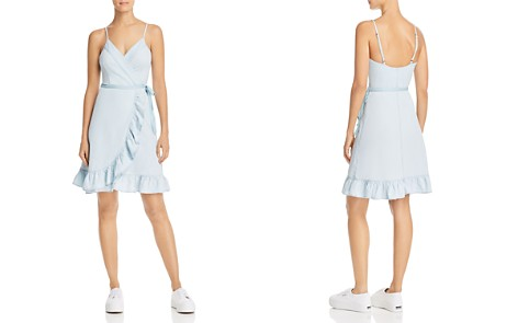 BLANKNYC Chambray Ruffled Wrap Dress - Bloomingdale's_2