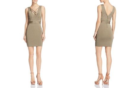 GUESS Lace-Up Bodycon Dress - Bloomingdale's_2